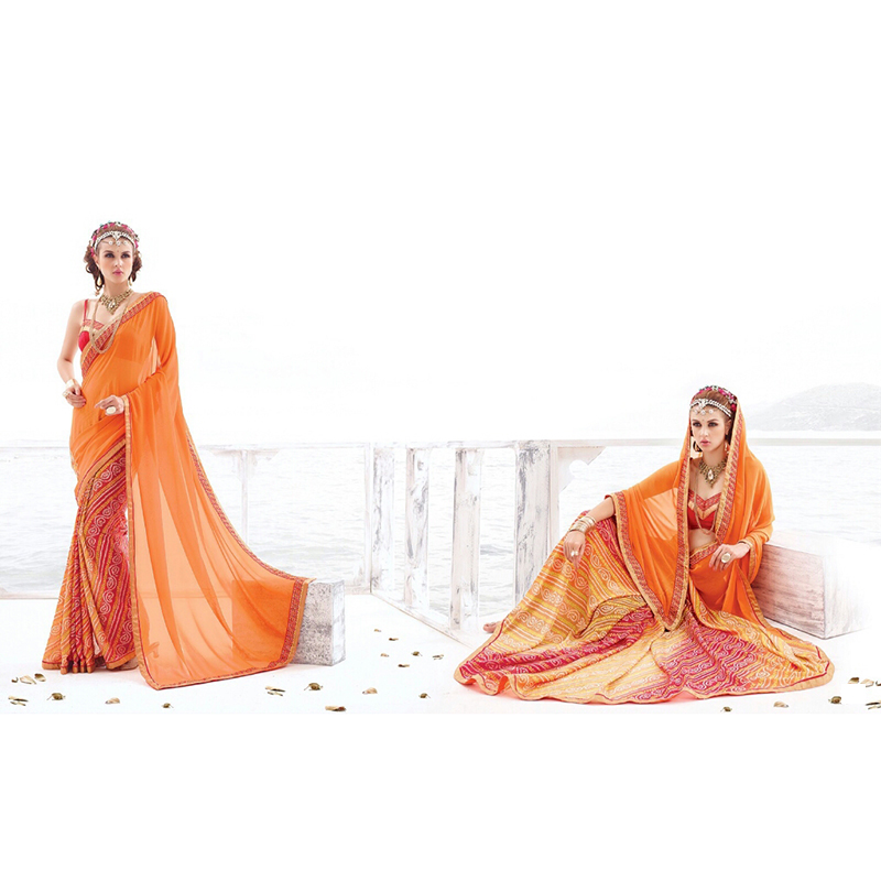 Georgette Designer saree SAS006 large 1