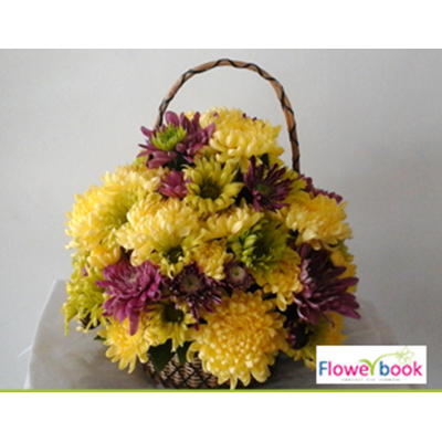 Chryshanthimum Flower Arrangement BD012 large 1