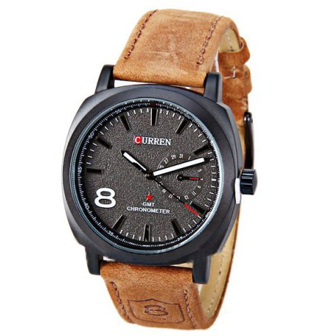 Curren Black Dial Mens Watch large 1
