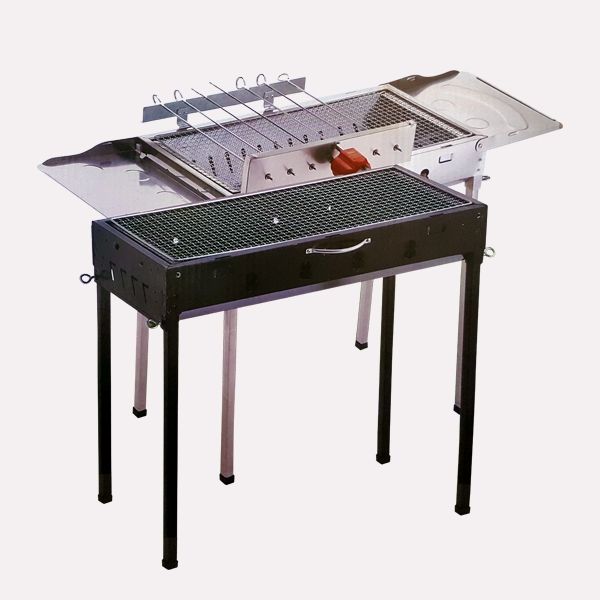 Stainless Steel Rollaway Barbecue Pit 2211 large 1