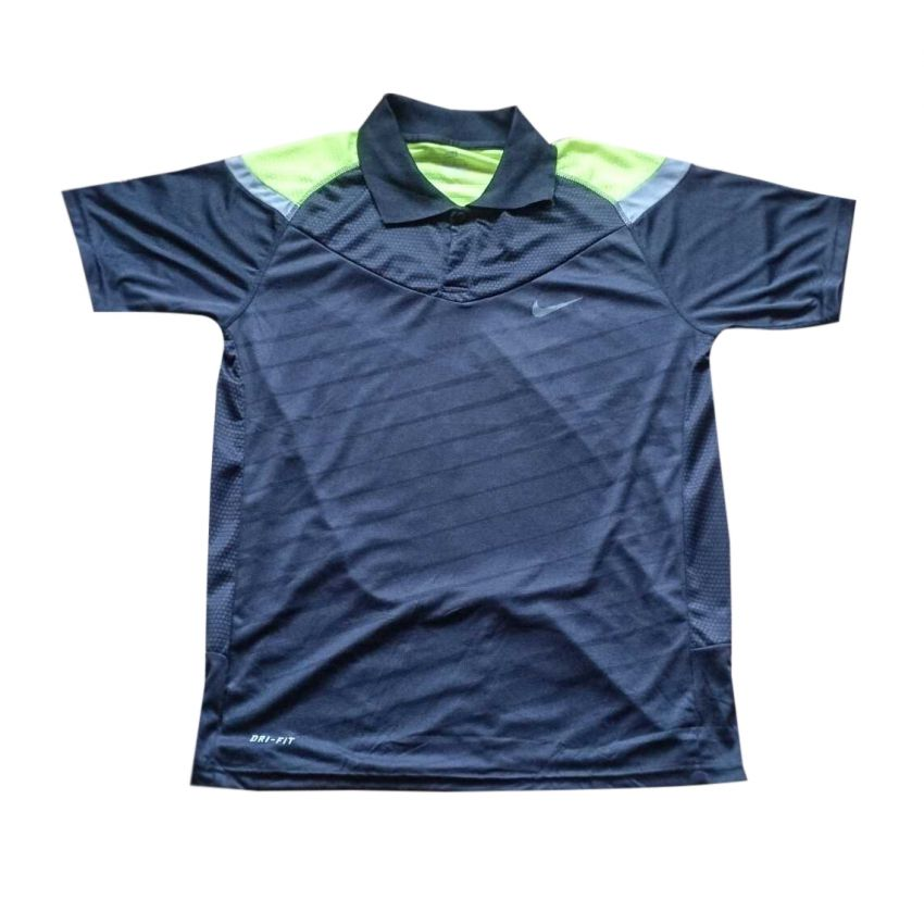 Blue Dry Fit Collared T Shirt large 1