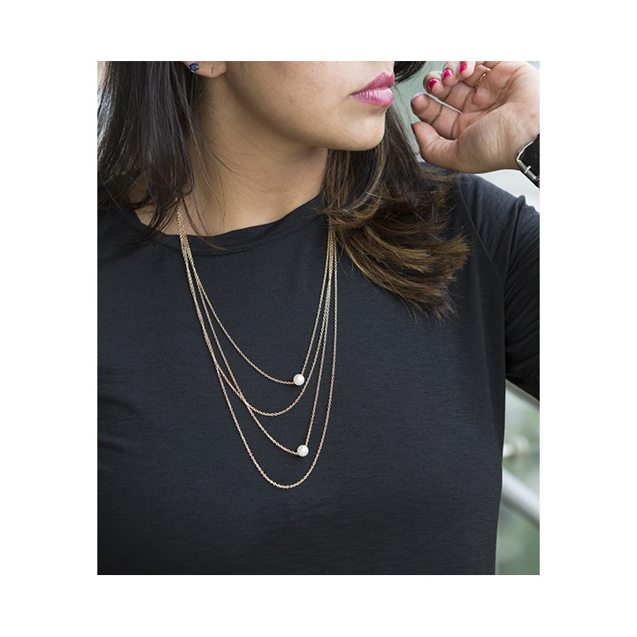 Gold Pearl String Layered Long Chain LCNGPS large 2