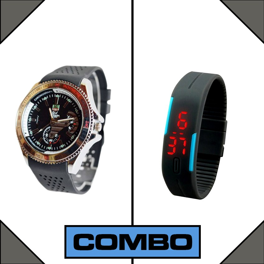 Combo of Carrera and LED Watch large 1