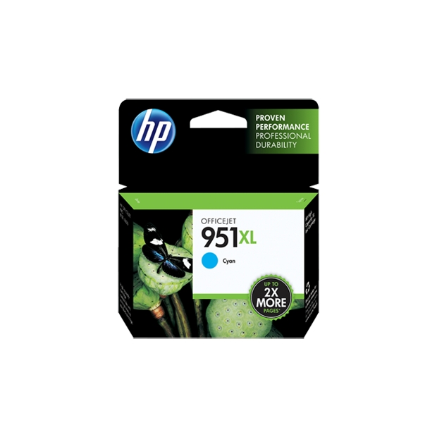 HP 951XL Cyan High Yield Original Ink Cartridge CN046AN large 1