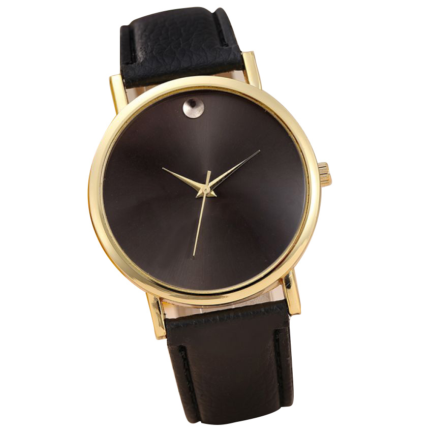 Womens Black Dial Analog Watch large 1