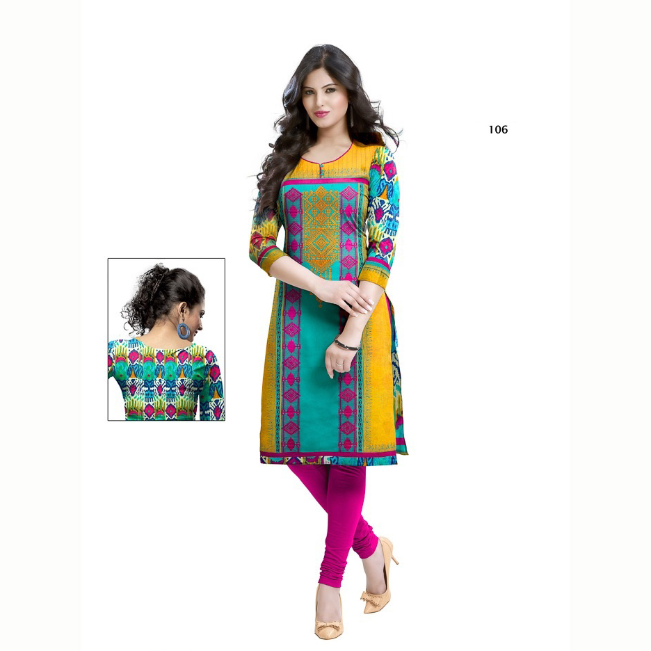 Minaz Cotton With Embroidered Works  Kurtha Tops 106 large 1