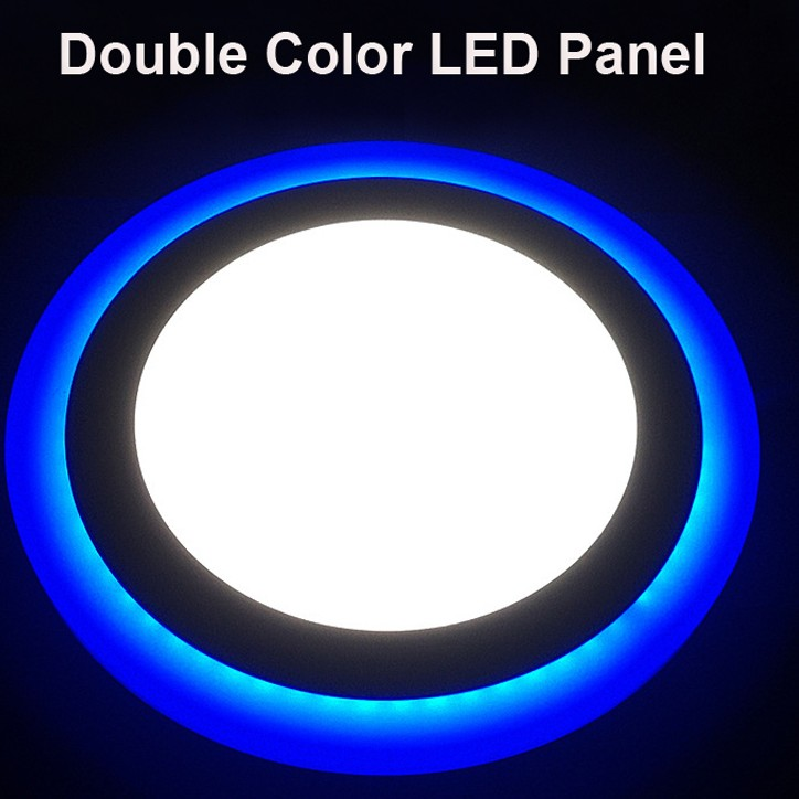 double color led panel light 12 W large 2