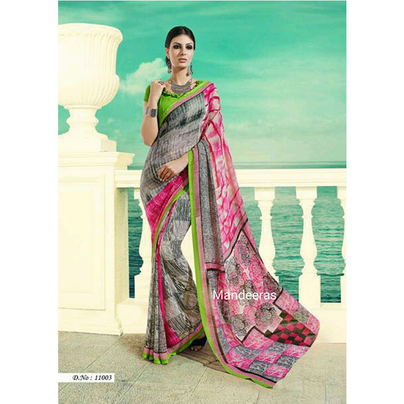 BRANDED CASUAL CATALOGUE SAREE 11003 large 1