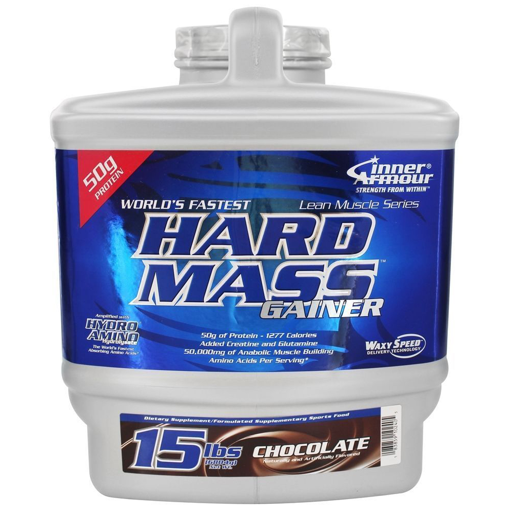 Inner Armour Blue HARD MASS GAINER Whey Protein Concentrate 15 lbs suppliment large 1