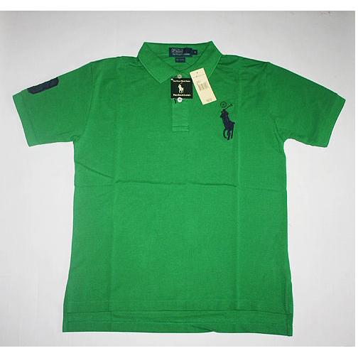 Mens Green Big Pony T Shirt