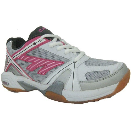 Hi Tec Indoor Lite Women's Squash shoe Silver and Pink large 1