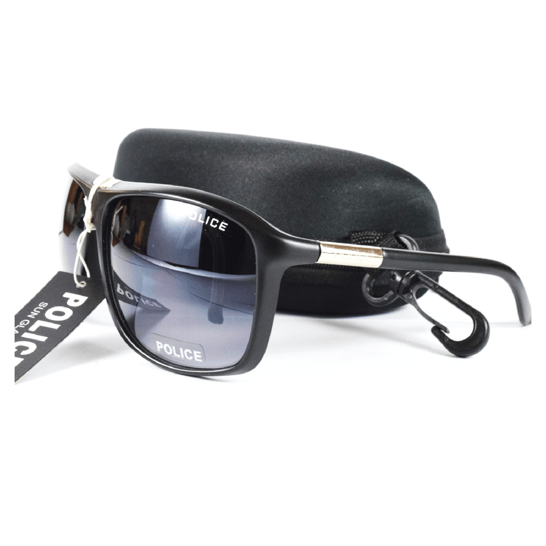 Police Black Shades Aviator Top Quality Sunglass MS003 large 2
