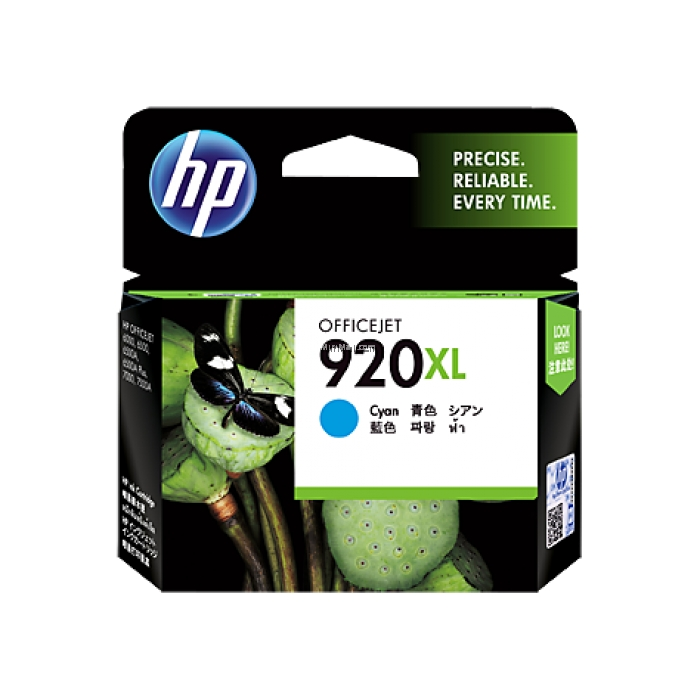 HP 920XL High Yield Cyan Original Ink Cartridge CD972AA large 1