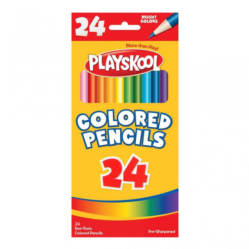 Playskool Colored Pencils 24 Count large 1