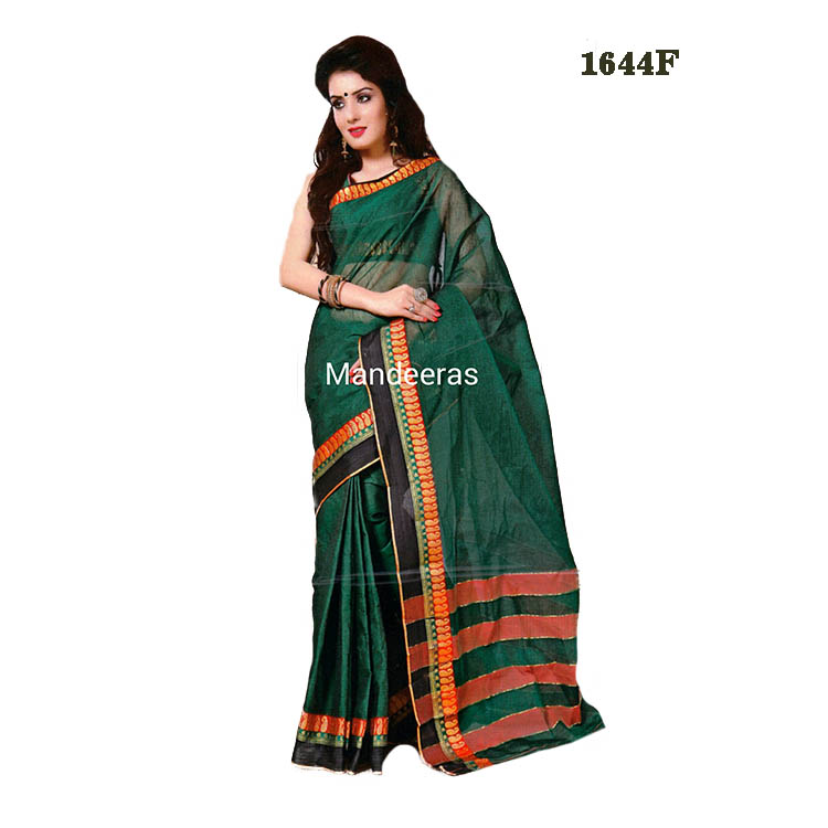 Soft Cotton Saree Design 1644F large 1