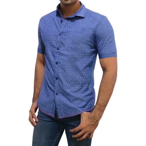 Mens Blue Shirt C-PSF0096SS171