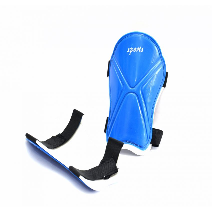 Sports Shin Blue Pads large 1