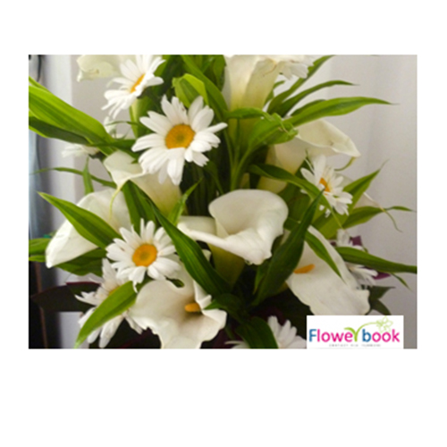 White Lilly Flower Arrangement BD016 large 1
