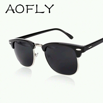 Aofly classic Metal Unisex  Sunglasses large 2