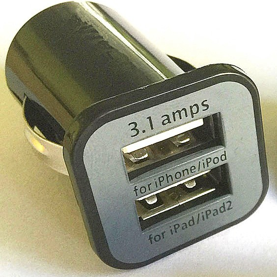 Dual USB Port 5V 3.1A Car Charger large 1