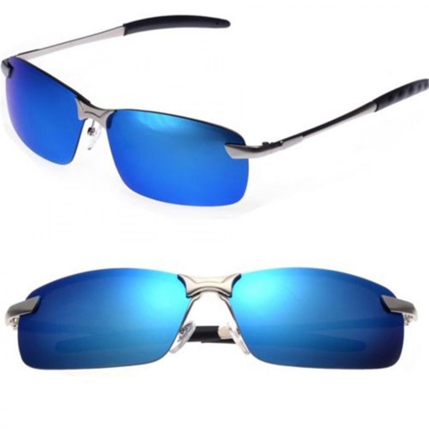 Polarized HD Lens High Quality Sunglasses Blue large 1