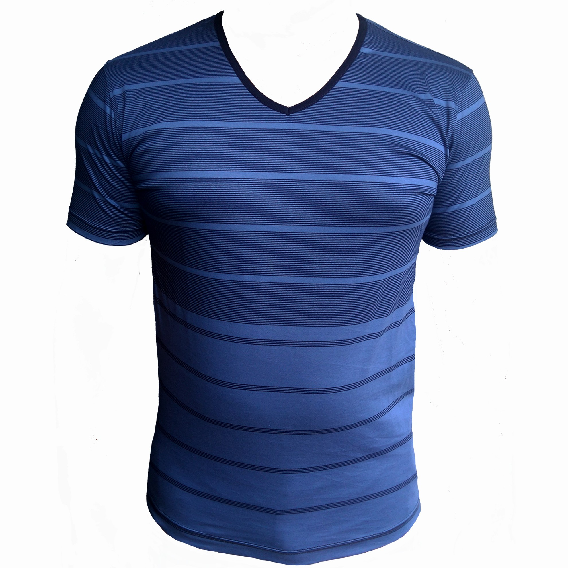 v neck t shirt stripe large 1