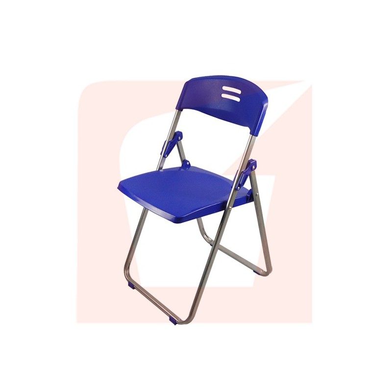 Plastic Folding Chairs Blue Color large 1