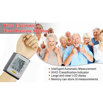 Digital Wrist Blood Pressure Monitor with FDA CE large 1