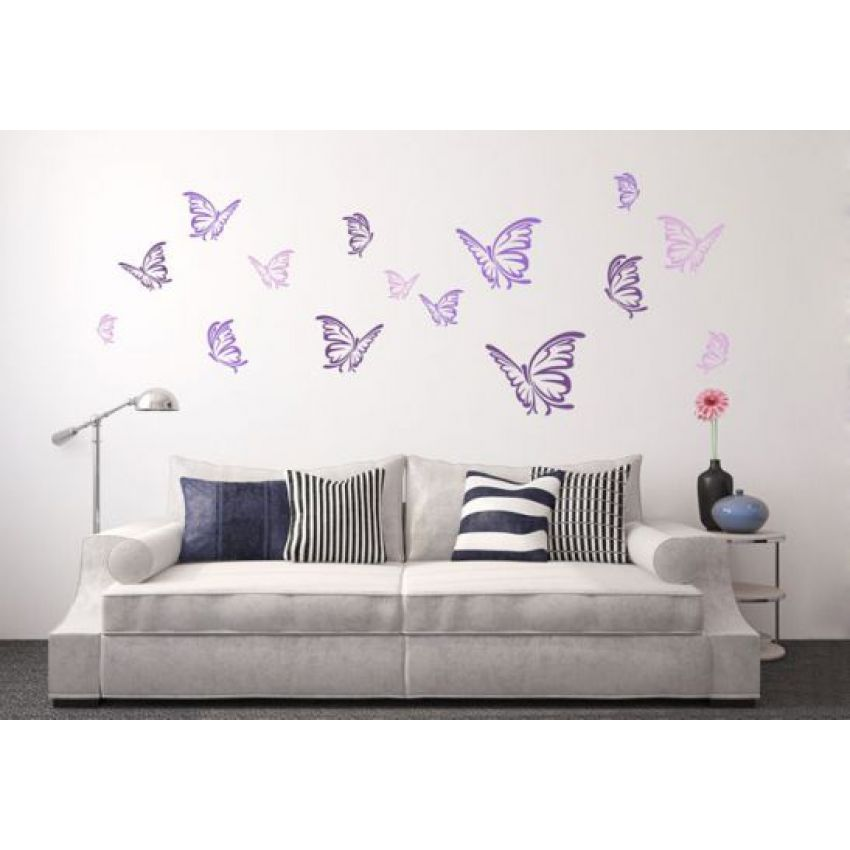 Butterflies Impression Wall Sticker large 1