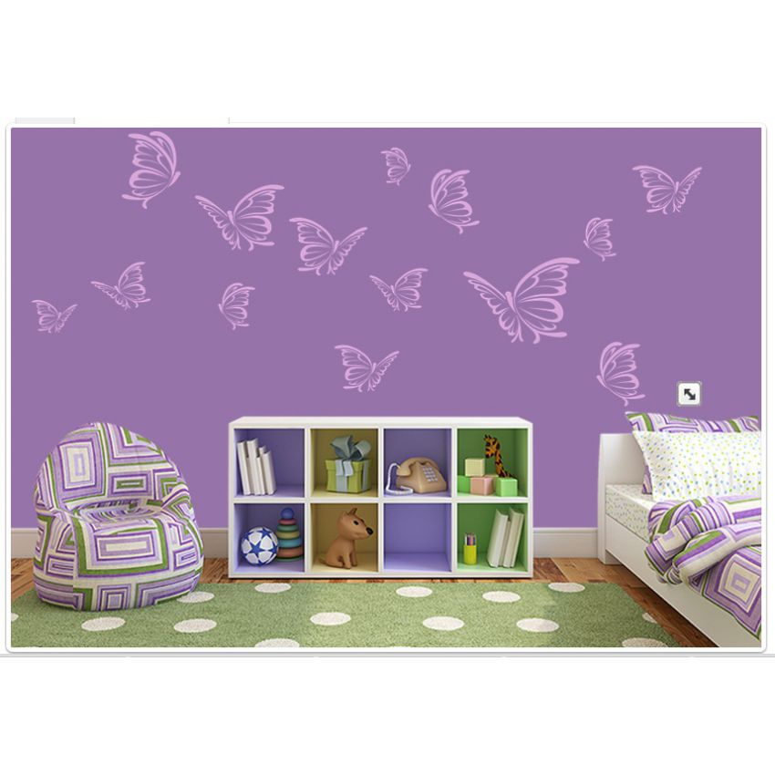 Butterflies Impression Wall Sticker large 2