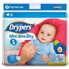 Drypers Baby Diapers  Wee Wee Dry  Small 16Pcs large 1