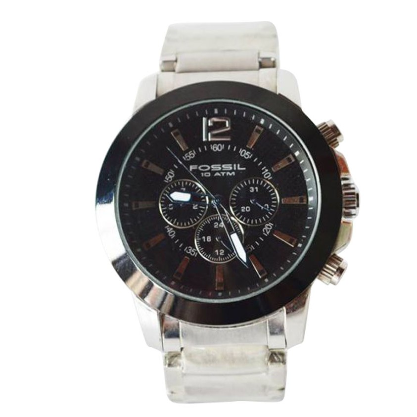 Fossil Black Dial Wrist Watch large 1