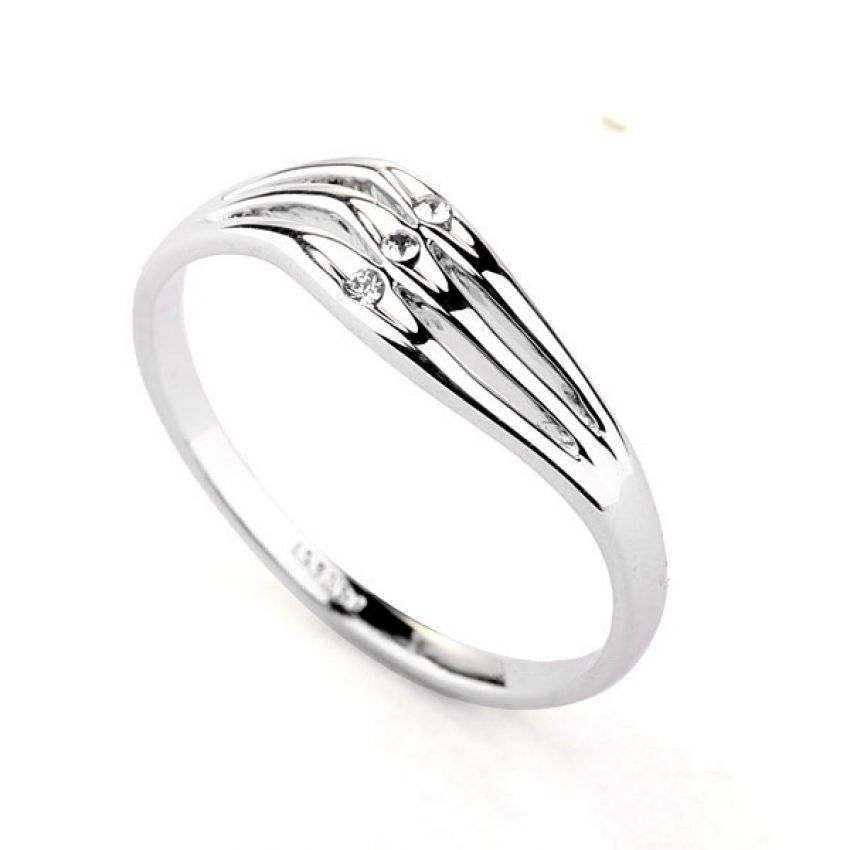 Silver Plated Heart Ring R 032 large 1