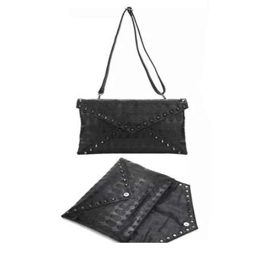 Women's Clutch Handbag With Silver Rivets large 1