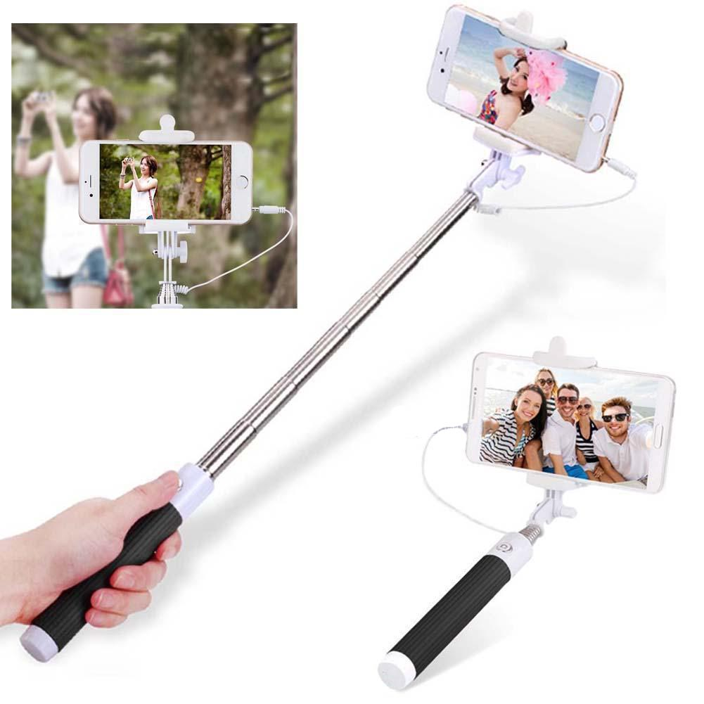 Selfie Stick Extendable Monopod with remote Shutter Black UP C02