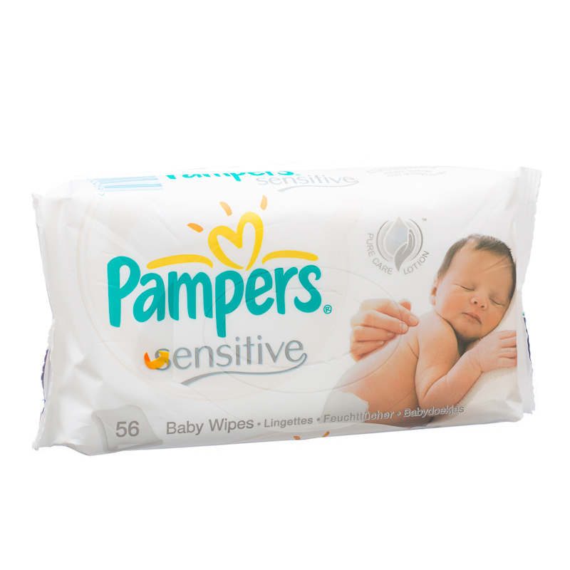 Pampers Baby Wipes Sensitive 56 Wipes large 1