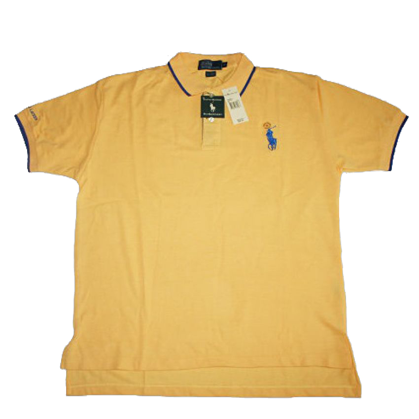 Mens Golf Yellow T Shirt