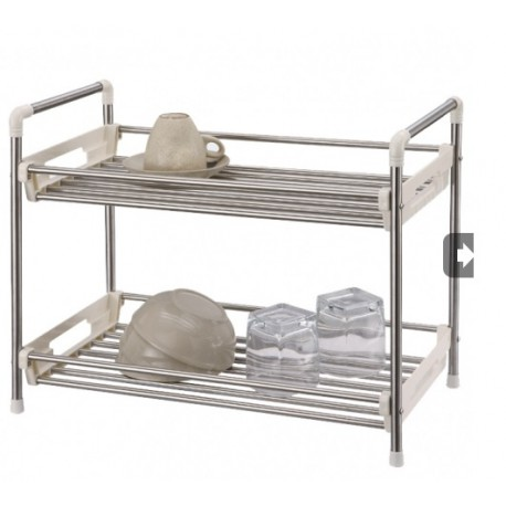 Stainless Steel 2 Tier Utility Rack large 1