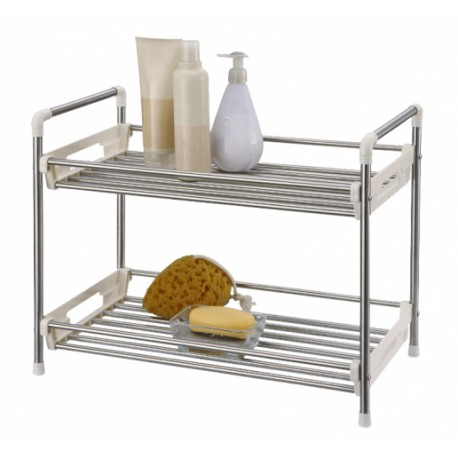 Stainless Steel 2 Tier Utility Rack large 2