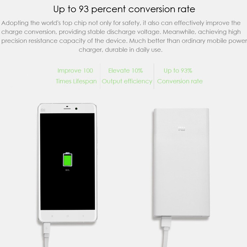 Original Xiaomi Mi 20000mAh Mobile Power Bank Quick Charging large 2