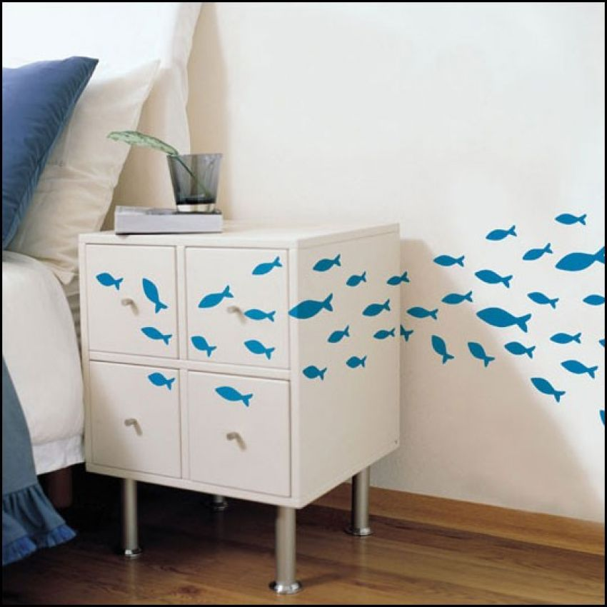 3D Fish Wall Sticker large 1