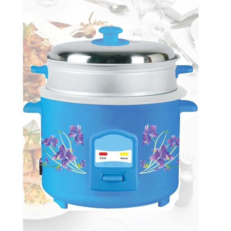 Deluxe Rice Cooker With Steamer 2 8L large 1