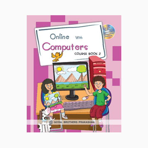 Online With Computers Book-2 with CD D110227 large 1