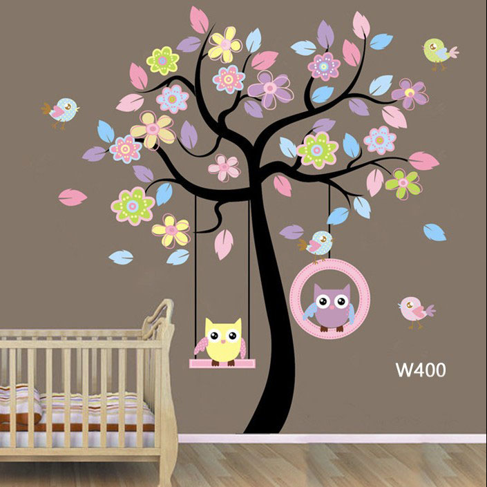 Wall sticker-Black & Pink Tree large 1