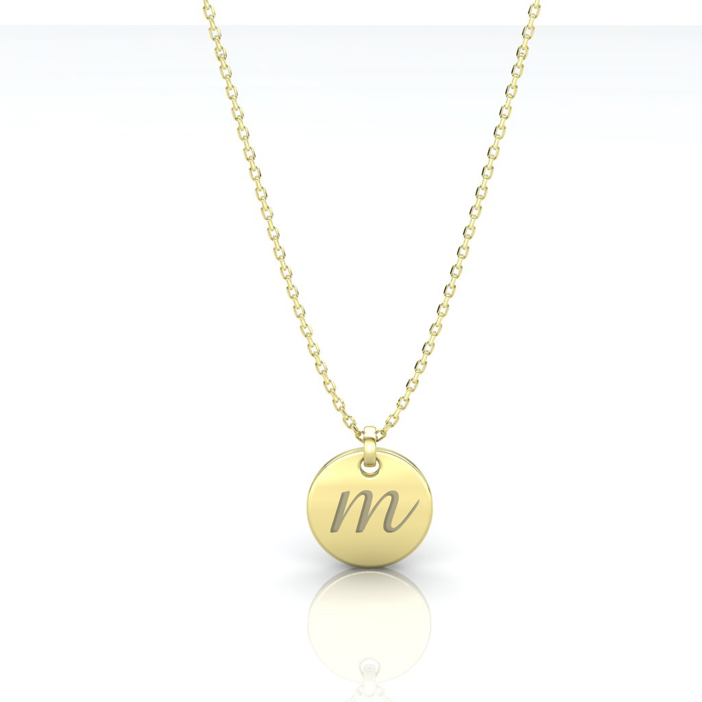 INITIAL COIN GOLD PENDANT large 1