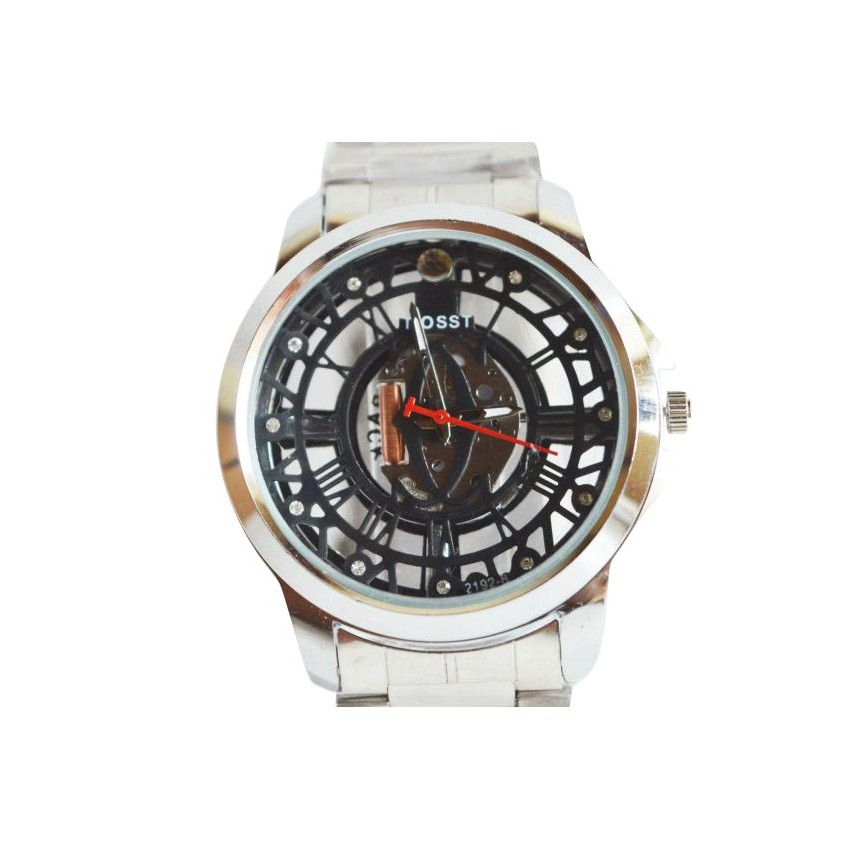 Visible Movement Black Dial Watch large 2