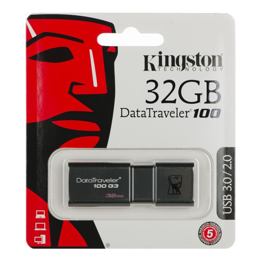 Kingston Data Traveler 100 32GB Utility Pen Drive