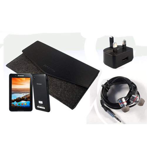 Lenovo Tab With Case and JBL Headphones Free A730