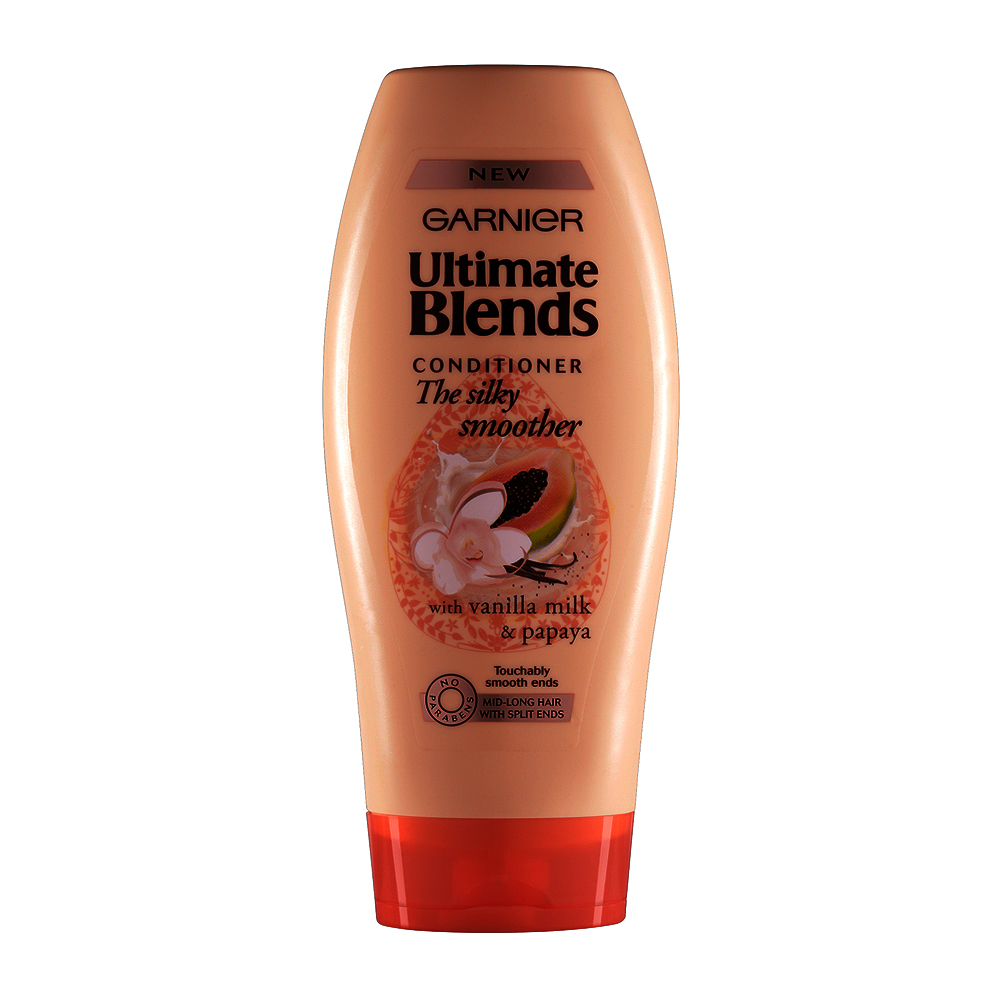 Garnier Ultimate Blends Silky Smoother Conditioner 400ml large 1