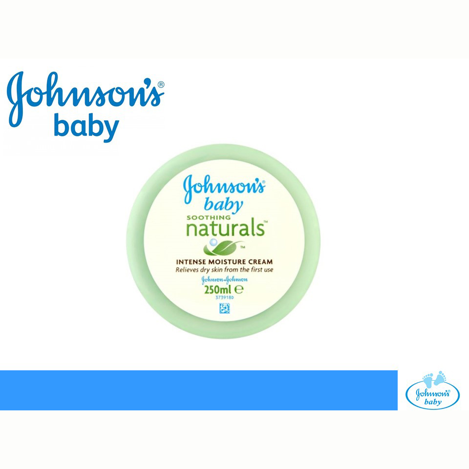 Johnson's Baby Soothing Naturals Intense Moisture Cream 250ml large 1